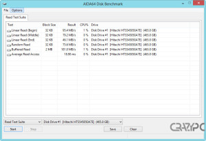 AIDA64 DISK BENCHMARK READ TEST SUITE