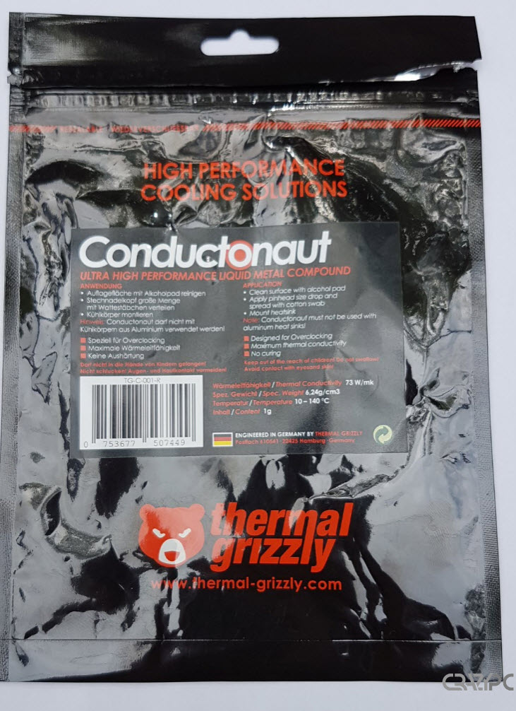 THERMAL GRIZZLY CONDUCTONAUT AMBALAJ SPATE