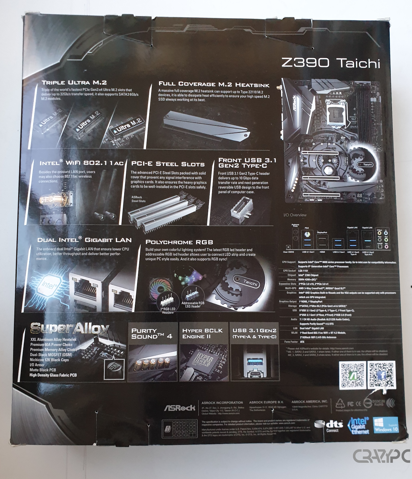 Review Asrock Z390 Taichi - Crazypc ro: Notoriously